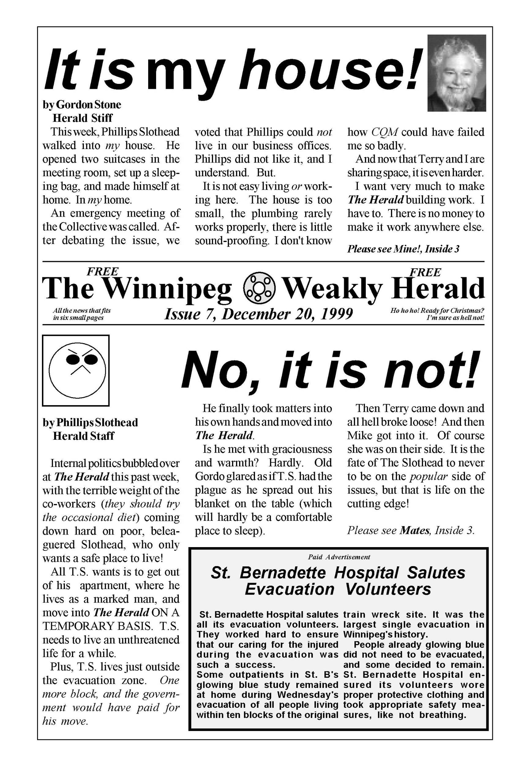 The Weakly Herald Issue 7 Page 1